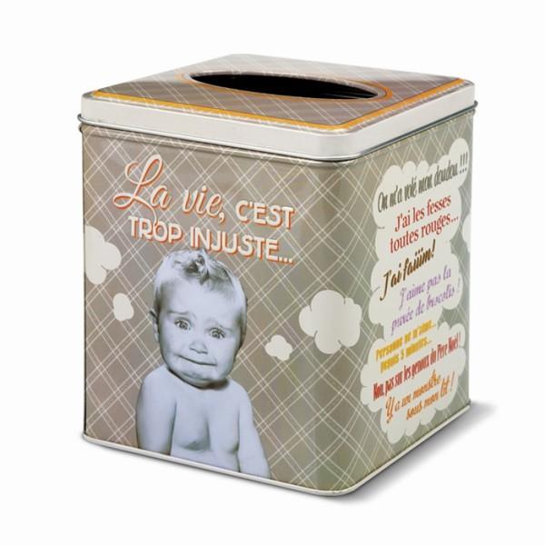 Natives la gamme accessoires salle de bain boite mouchoirs carr e - Boite de mouchoirs personnalises ...
