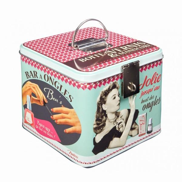 Natives la gamme accessoires salle de bain boite vernis - Boite de rangement pour vernis a ongle ...